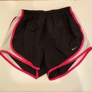 Black and Hot Pink Nike Tempo Shorts